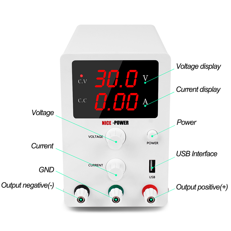 DC Switching Bench Power Supply Adjustable Laboratory 30v 10a Digital Power Supplies Power Source 110V 220V Bench Source-1