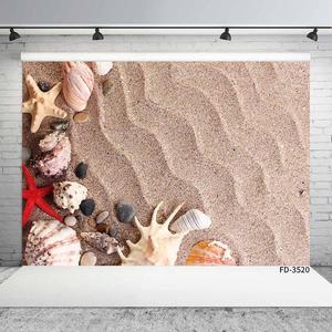 Image 3 - Denizyıldızı kabuk kabuklu dalgalanma kum fotoğraf arka plan özel Photocall zemin çocuk bebek oyuncak fotoğraf sahne Photoshoot