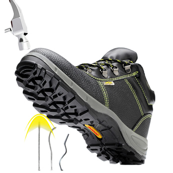 Steel Toe Safety Shoes Work Boots Puncture-proof Solid Bottom Labor Construction Working Shoes Nonslip Outdoor Safe Hiking Boots