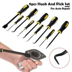 Trwałe hak samochodowy Craft narzędzia ręczne 9 sztuk oleju uszczelka o ring uszczelnienie Remover Pick zestaw Auto samochód Pick i zestaw haczyków uszczelka do usuwania w Zestawy narzędzi ręcznych od Narzędzia na