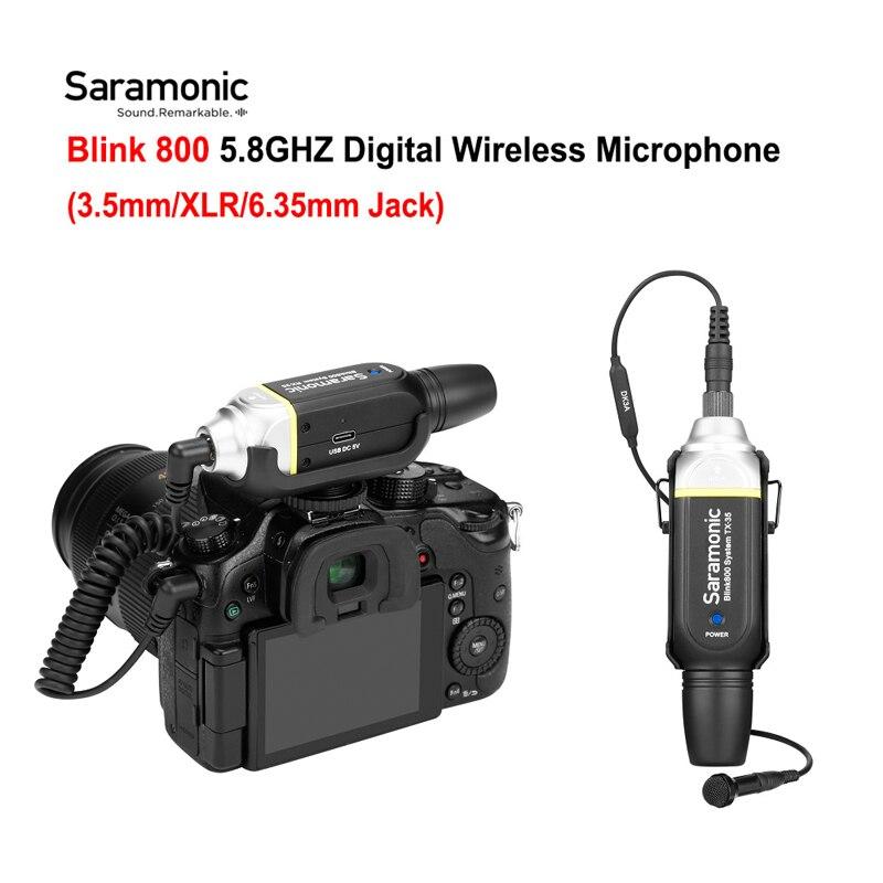 Saramonic Blink800 B1 B2 5.8GHZ Wireless Microphone System Audio Mic 3.5mm XLR 6.35mm Jack Blink 800 For Camera Mixer Guitar