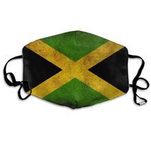 Máscara reutilizable lavable de la bandera de Jamaica del estilo Vintage, máscara de media cara de boca antipolvo del algodón para los niños adolescentes hombres y mujeres con