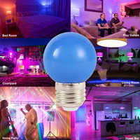 7 Color E27 RGB LED Bulb 3W Festival Decoration Lighting Energy Saving Lamp Screw Bulb Bar KTV Party Lighting Decoration