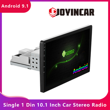 JOYINCAR 10.1'' Single 1DIN Android 9.1 Car Stereo Radio GPS Navigation Autoradio Wifi Head Uni Car Multimedia MP5 Video Player image