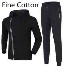 Brand High Elasticity Tracksuit Men Thermal Sportswear Sets Fine cotton Hoodie+Pants Sporting Suit Casual Sweatshirts Sport