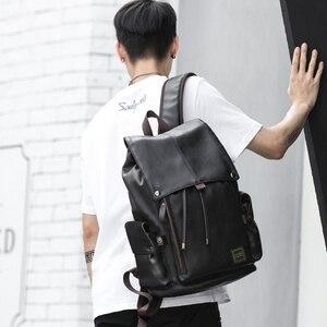 Image 5 - MOYYI célèbre marque école Style sac à dos en cuir sac pour collège conception Simple hommes imperméable décontracté Daypacks mochila 2019