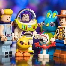Disney Speelgoed Verhaal 4 Figuren Woody Forky Buzz Lightyear Gaby Rode harten инопланетяне игрушки Джесси Bouwstenen Vrienden baksteen