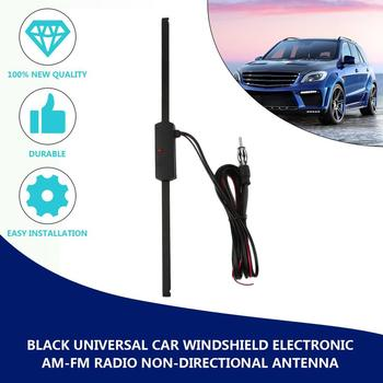 2018 hot sale Car Antenna Booster Car Electronic FM/AM Radio Antenna Windshield Mount 12V Black Drop Shipping image