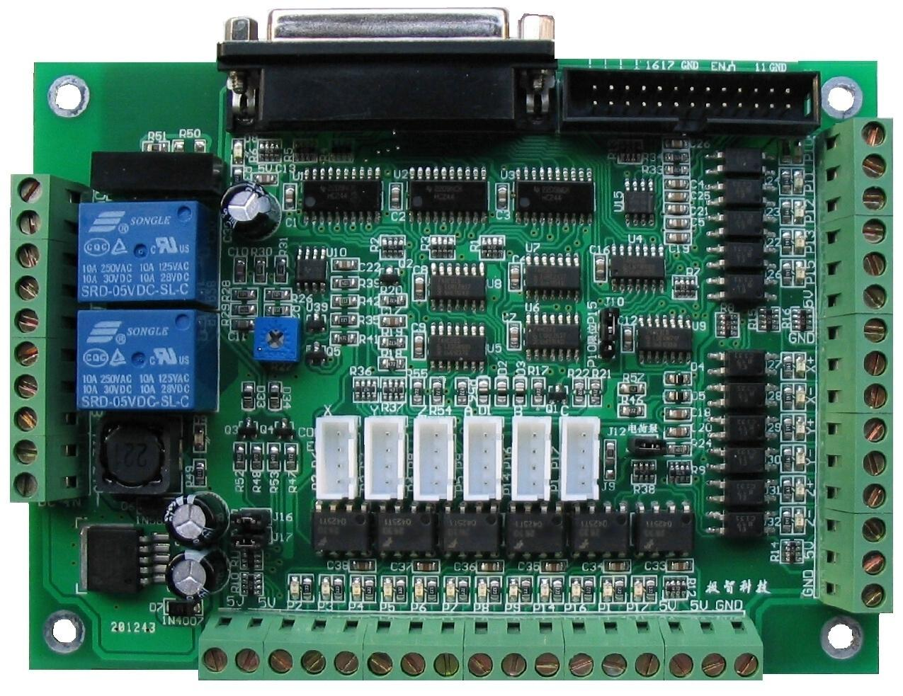 3 Axis 4 Axis 5 Axis 6 Axis High Speed Optocoupler CNC Machine Interface Board MACH3 Engraving Machine Foam Cutting Machine