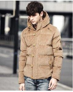 Image 5 - Bolubao 新冬男性パーカーコート冬のファッションブランドメンズ品質入り厚く暖かいコート男性綿フード付きパーカー