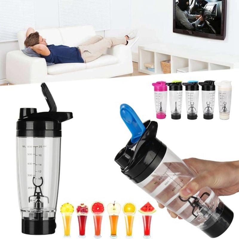Portable Vortex Electric Protein Shaker Mixer Bottle Detachable Cup