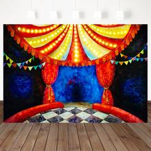Ужасный цирковой фон для фотосъемки Ретро Красные занавески