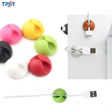 Cable-Organizer Headphone Mouse for Tidy Desktop Car TPST Silicone 1slot
