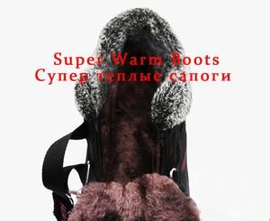 Image 5 - ブランド冬の女性のブーツ暖かい豪華な女性の雪のブーツ防水スエードの女性の女性の靴セクシーなzapatosデmujer
