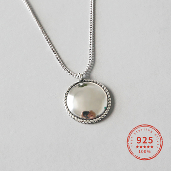 Dorado 925 Sterling Silver Necklaces Tag Clavicle Necklace Pendant Vintage Female Fine Jewelry Girls WDN053