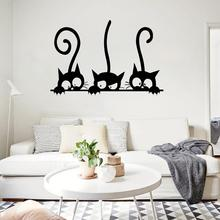 wall sticker Funny Cat Long Tail Waterproof Removable Room Background Decals Wall Sticker room decoration