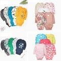 Детское боди с длинным рукавом и круглым вырезом, Одежда для новорожденных мальчиков и девочек, 2021, унисекс, костюм для новорожденных, компл...