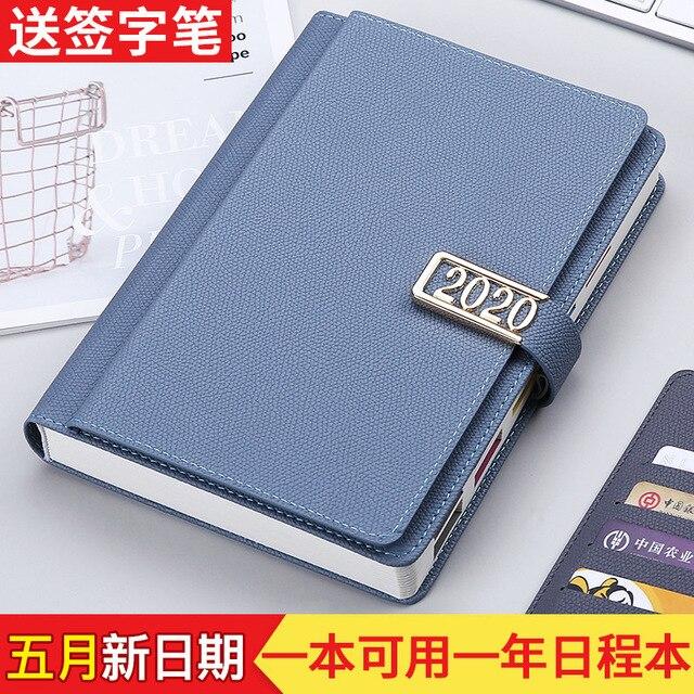 2020 nian Planner Notebook Self-Discipline Playing Card Working Calendar Notebook Customizable Notebook 365 Days