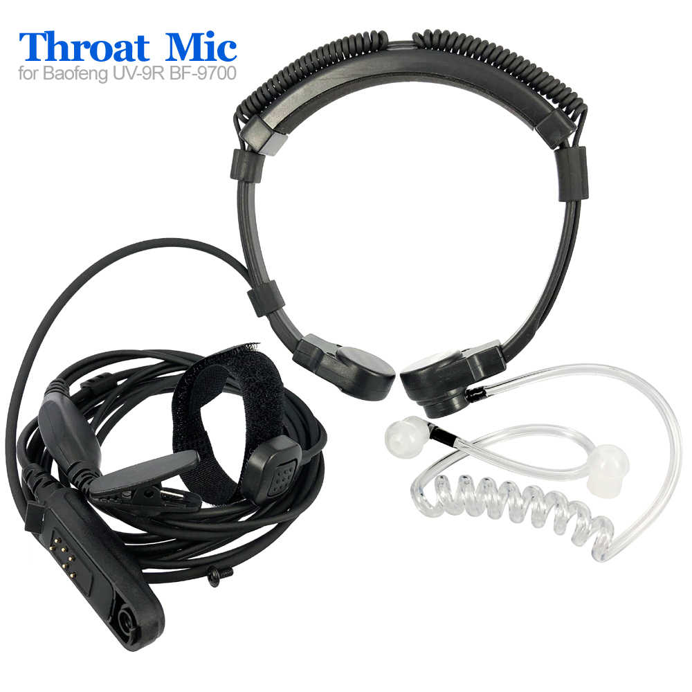 Radio Baofeng UV-9R Plus BF-9700 BF-A58 Télescopique Gorge Vibration Micro Écouteur Casque pour UV-XR UV9R GT-3WP Talkie-walkie