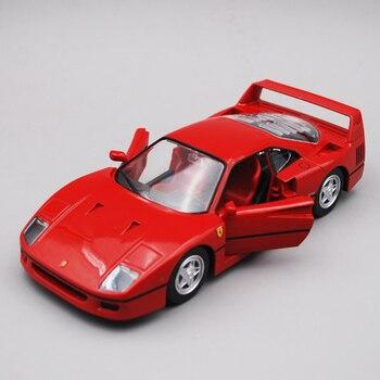 цена Bburago 1/24 1:24 Scale Ferrari F40 Racing Sports Car Vehicle Diecast Display Alloy Collectible Model Children Boys Kids Toy онлайн в 2017 году