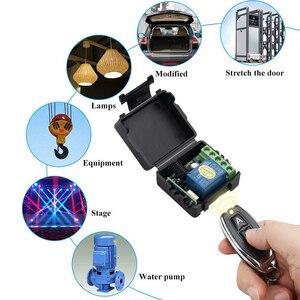 Image 3 - Kebidu 433 mhzのリモコンユニバーサルワイヤレスリモートコントロールスイッチdc 12v 1CHリレーレシーバモジュールトランスミッタ