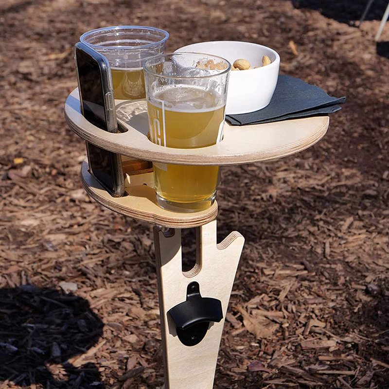 Outdoor Wine Table Outdoor Portable Folding Wine Table for Outdoors Garden Travel Beach Camping Garden Furniture Sets DAG-ship