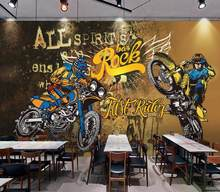 Custom 3d wall paper 3D Hand drawn doodle motorcycle wallpapers for living room bedroom High-grade wall paper mural 3d(China)