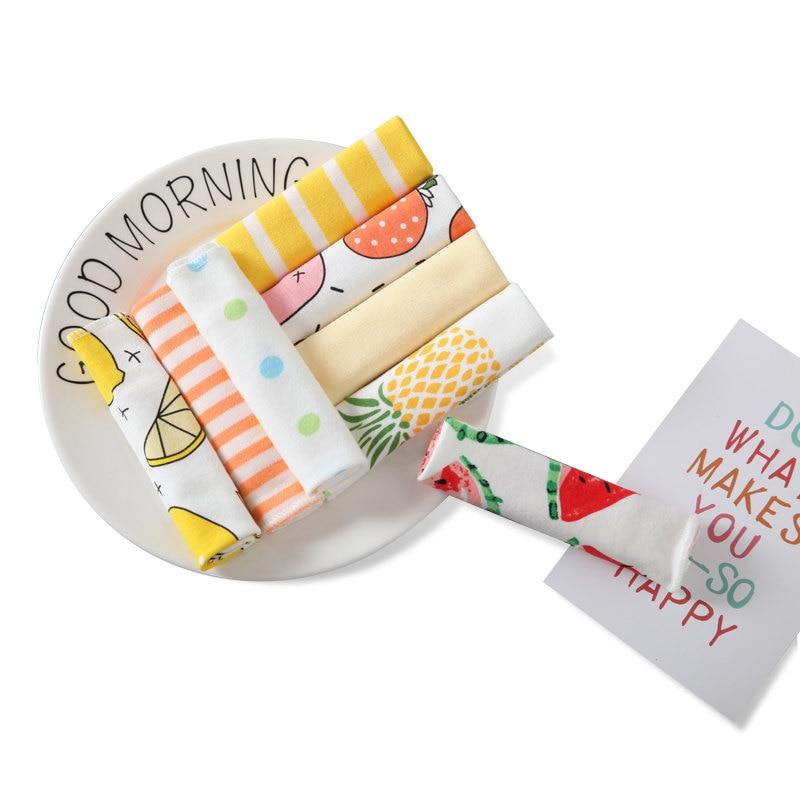 Cartoon Baby Gauze Handkerchiefs Square Pocket Hanky Printed Handkerchief Children Portable Towel 21*21CM AD0438