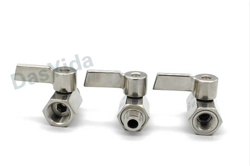 Mini válvula de bola de acero inoxidable 304 1/8 1/4 3/8 1/2/1 NPT BSP, rosca macho hembra para agua, válvula de bola de ácido y aceite doble sentido, 3/4