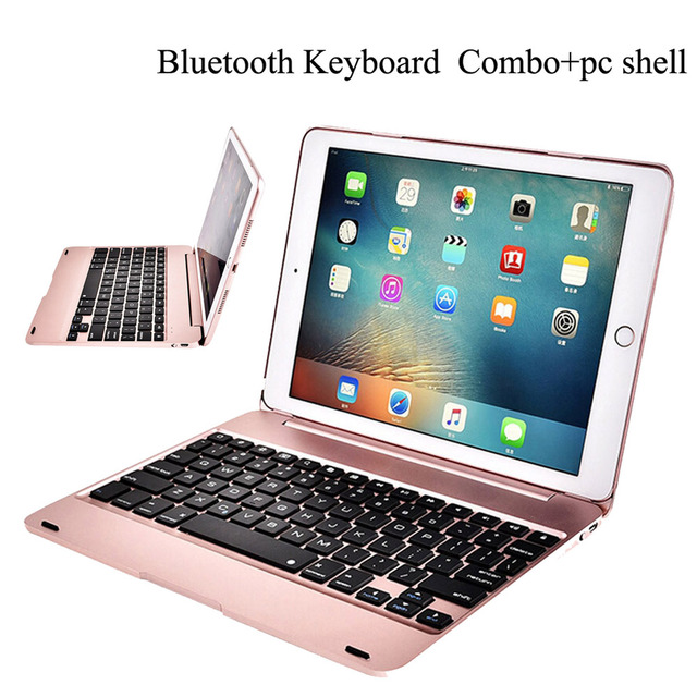 Клавиатура Чехол для iPad 9,7 2018 6th iPad 9,7 2017 5th, смарт Беспроводной клавиатура чехол для iPad Air 2, iPad Pro 9,7 дюйма Планшет