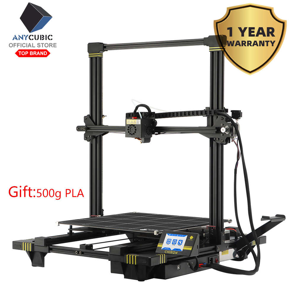 Anycubic Chiron 3D Printer Ukuran TFT Auto-Leveling Printer 3D Titan Extruder Dual Z Axisolor Impressora 3D Kit 3D Drucker