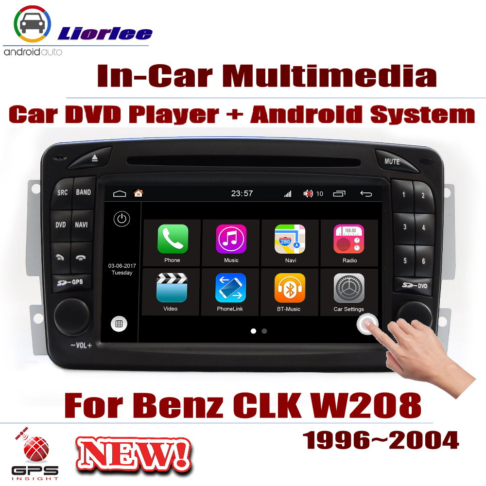 <font><b>Car</b></font> Android Player DVD <font><b>GPS</b></font> Navigation System For <font><b>Mercedes</b></font> Benz CLK Class <font><b>W208</b></font> 1996-2004 <font><b>Radio</b></font> Stereo Integrated Multimedia image