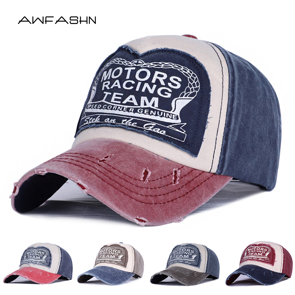 Wholesale Fashion Unisex Retro Baseball Cap Spring Women Men Casual Snapback Hat Washed Cotton Dad Hat Vintage Gorras Bone Sport