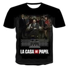 La Casa De Papel T Shirt 3D Print Women Men Short Sleeve Shirts Money Heist The Paper House Casual Streetwear Tops