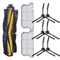 1 х основная щетка + 6 х Боковая щетка + 2 x Hepa фильтр Пылезащитный для Ilife V7 V7S V7S Pro Робот Запчасти для пылесоса замены