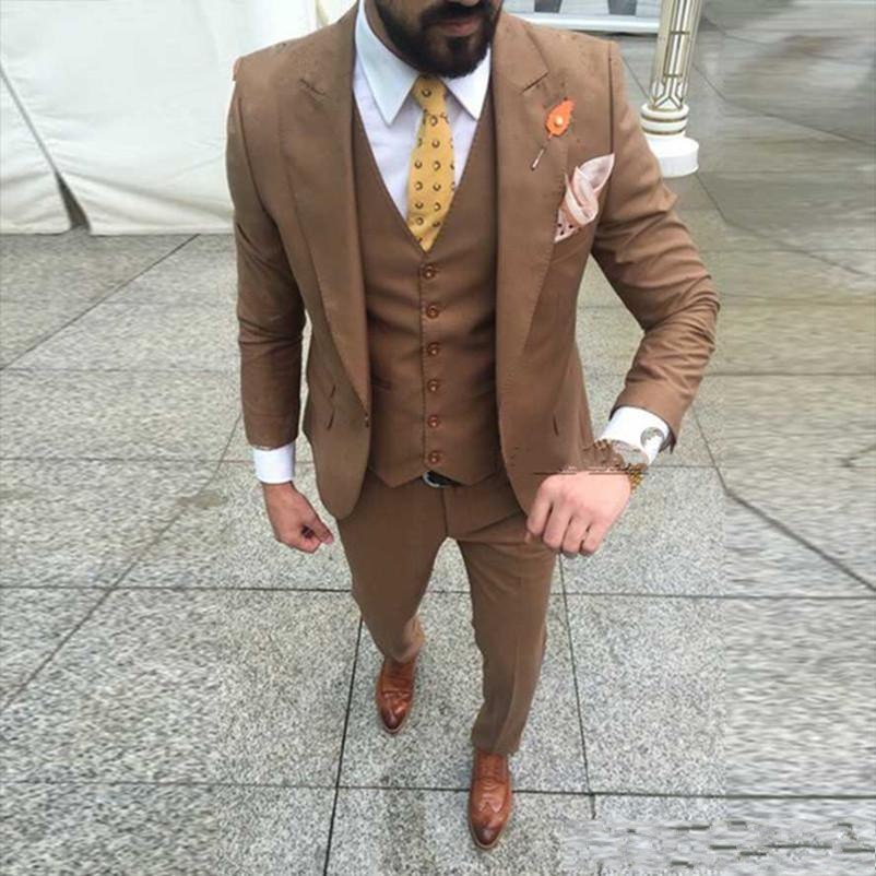 Brown-Groom-Slim-Fit-Tuxedos-Peakl-Lapel-Groomsmen-Mens-Wedding-Dress-Excellent-Man-Jacket-Blazer-3