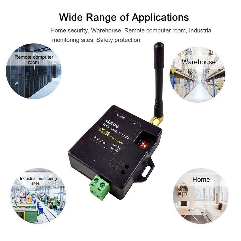 GA09 Alarm SMS Window Sensors GSM Alert Antenna Home Security APP Universal Wireless Module Call Mini Remote 8 Channel Door