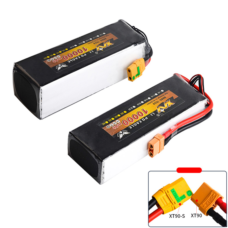 YW Lipo battery 7.4V 11.1V 14.8V 22.2V 10000mAh 30C Max 35C XT60 plug 2S 3S 4S 6S for Rc Quadcopter UAV Drones RC Helicopter image