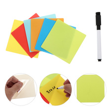 Self-adhesive Notes Reusable Sticky Tabs Rewritable Label Stickers Set