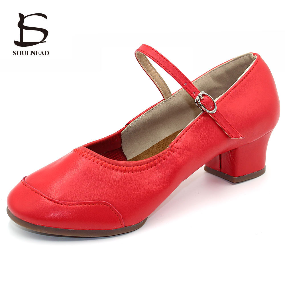 Dance Shoes Women Low heeled Square Dancing Shoes Latin Salsa Dance Shoe Soft Sole Outdoor Dance Sneakers Spring Size 34 42
