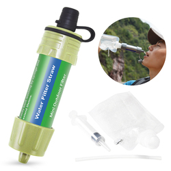 Sprzęt biwakowy na zewnątrz wojskowy Survival filtr wody słomki filtr do wody System filtracji wody awaryjne wędrówki|Zewnętrzne narzędzia|   -