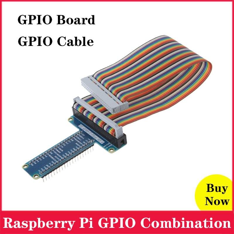 Raspberry Pi GPIO Extension Board T Type GPIO Board With 40 Pin GPIO Cable For Raspberry Pi 4 3 Model B 4B 3B 3 B Plus B+