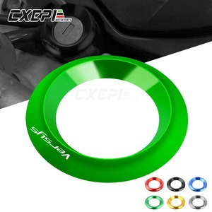 For Kawasaki Versys Versys-x 300 / ABS 2017 2018 2019 VERSYS Motorcycle Ignition Switch Cover Ring CNC Accessories