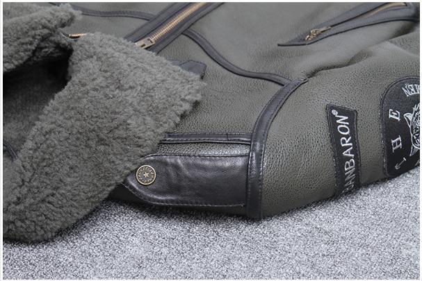 H65ba92d4c66a46d5a12321d7f372c224w Free shipping,Winter natural Sheepskin thick fur coat,classic wool Shearling,warm genuine leather jacket,mens plus size outwear