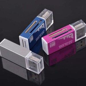 Image 2 - 4 in 1 Aluminium Shell Metalen Kaartlezer USB2.0 Alle in een High speed Universele SD TF Kaartlezer MMC Kaartlezers