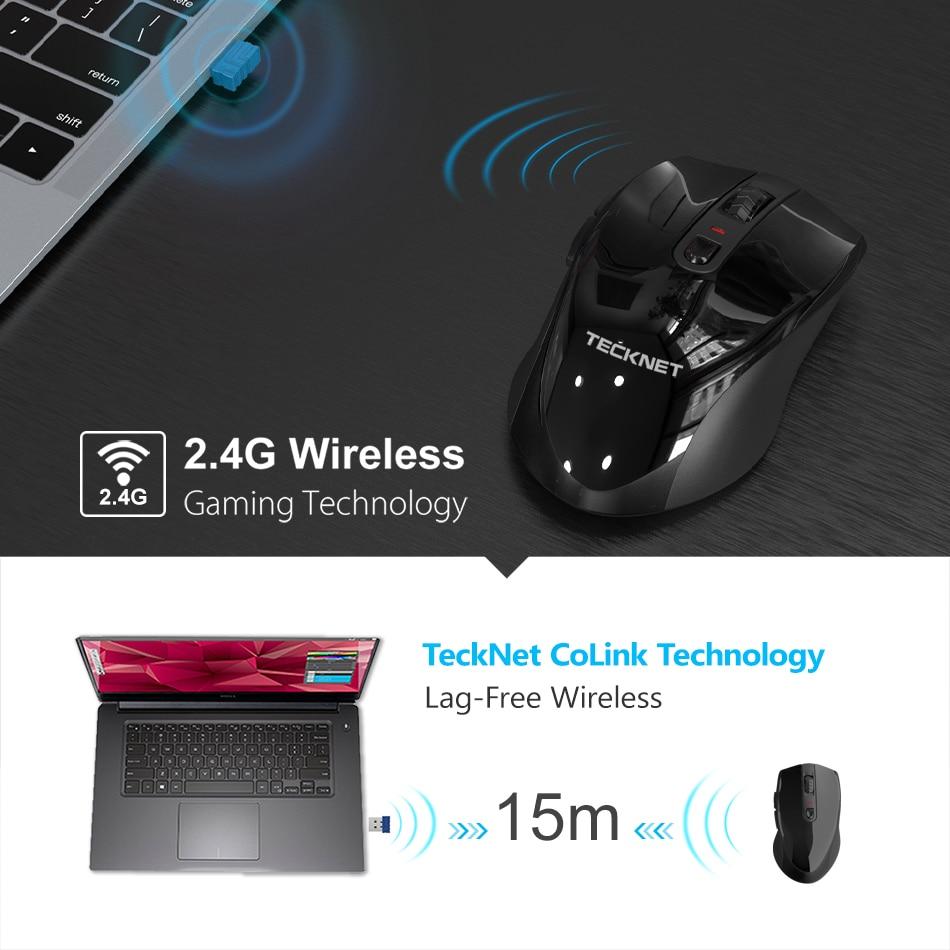 TeckNet ergonomiczna mysz bezprzewodowa 2.4Ghz 4800DPI