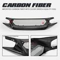Carbon Fiber Bumper Trim Für CIVIC FC1/FK7 Tyep R JS Style Front Grill (müssen geschnitten ein panel) körper Kit Tuning Für Civic FK7 Racing-in Spoiler & Flügel aus Kraftfahrzeuge und Motorräder bei