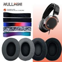 NullMini החלפת לעבות Earpads עבור SteelSeries Arctis 7,9,9X, פרו Earmuff אוזניות עור קטיפה שרוול אוזניות