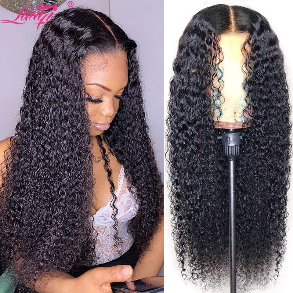 perruque longue cheveux humain Perruque bob lace front wig brésilienne naturelle non remy crépue-cheveux bouclés   Cheveux courts, 13x4, Free to, perruque pour femmes