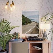 Affiche imprimée HD grand Sur autoroute, toile de décoration pour la maison, peinture d'arbre de montagne, salon, Art mural, cadre photo modulaire